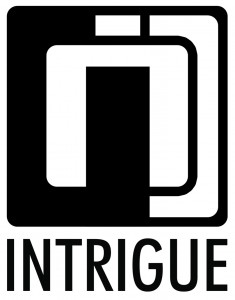 intrigue logo black on white