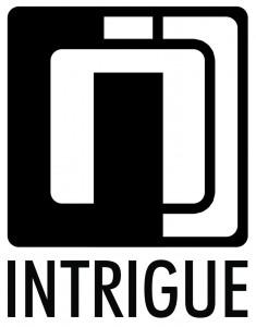 intrigue logo black on white